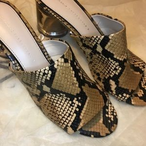 Brand New Zara Snakeskin Sandals Size 39